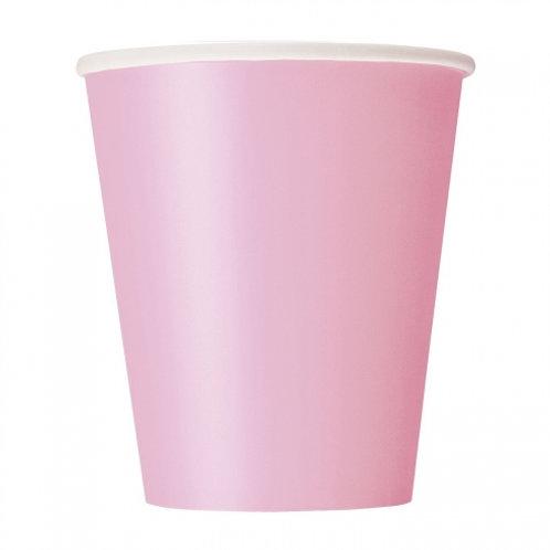 8 Vasos de cartón rosa