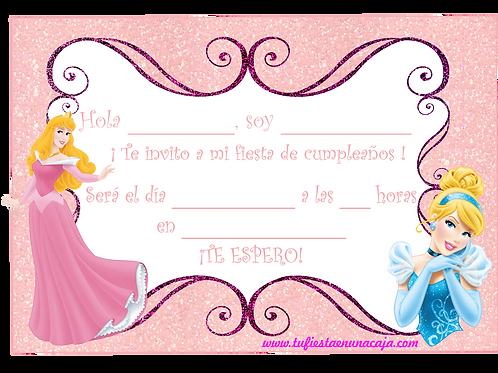 InvitaciónPrincesas Disney imprimible