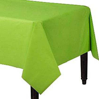 Mantel plastico verde kiwi