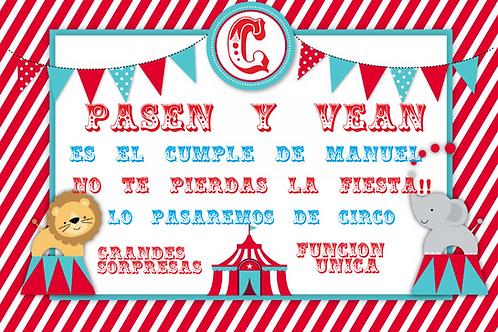 Kit de fiesta cumpleaños El Circo