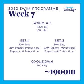 2020 Swim Programme Week 7