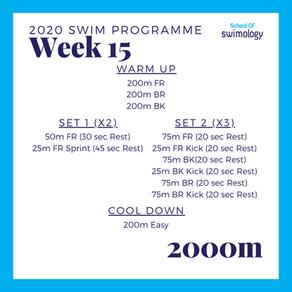 2020 Swim Programme Week 15