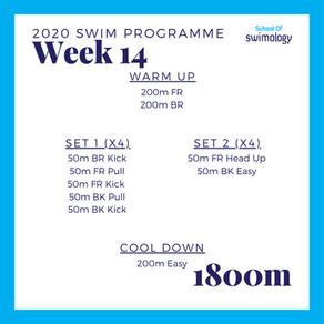 2020 Swim Programme Week 14