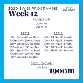 2020 Swim Programme Week 12
