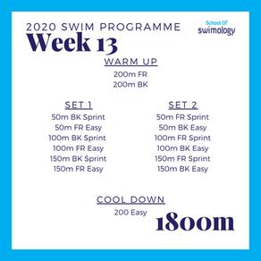 2020 Swim Programme Week 13