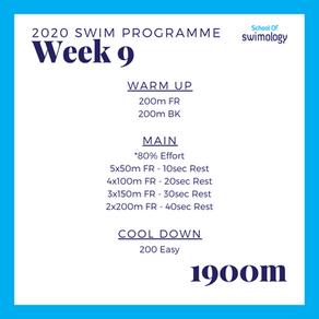 2020 Swim Programme Week 9