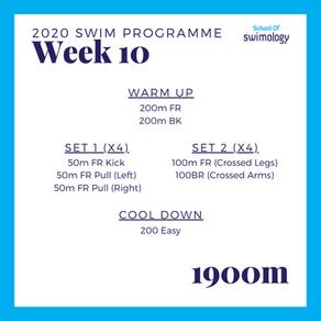 2020 Swim Programme Week 10