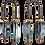 Thumbnail: Alter horseshoe earrings with twigs onyx, ocean