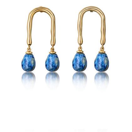 Horseshoe earrings with Sea drops