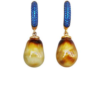 Alter saffron drop earrings