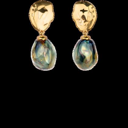 Lake earrings with ocean drops