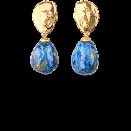 Lake earrings with sea drops