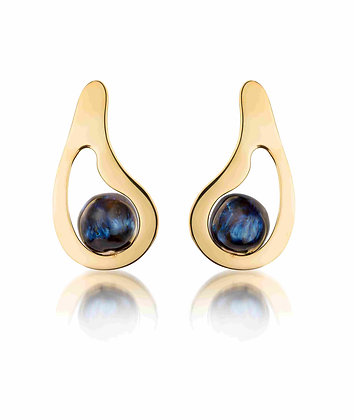 Elsa earrings with cosmos balls