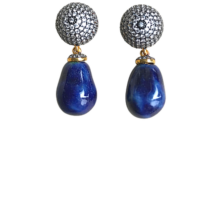 Alter orb earrings with sea drops