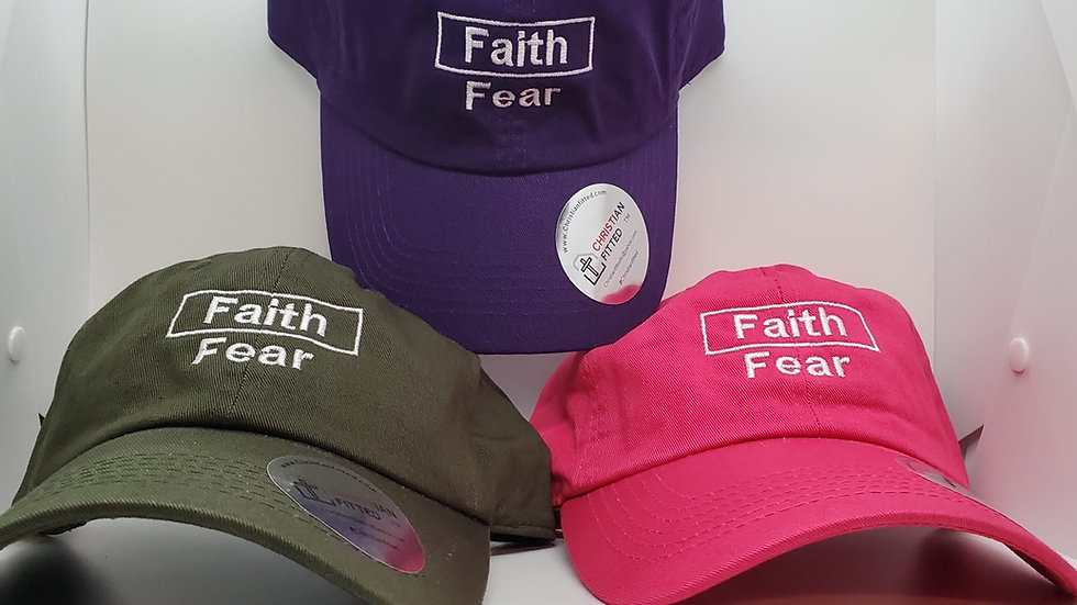 Faith Over Fear Unstructured or Structured Sports Cap