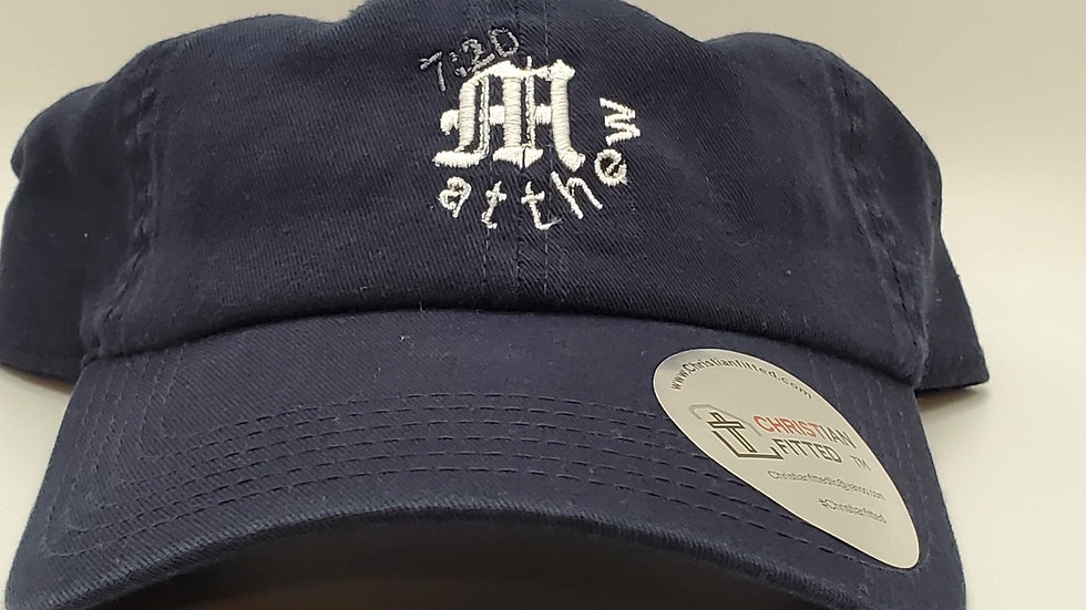 Matthew 7:20 Navy Dad Hat by Christian Fitted