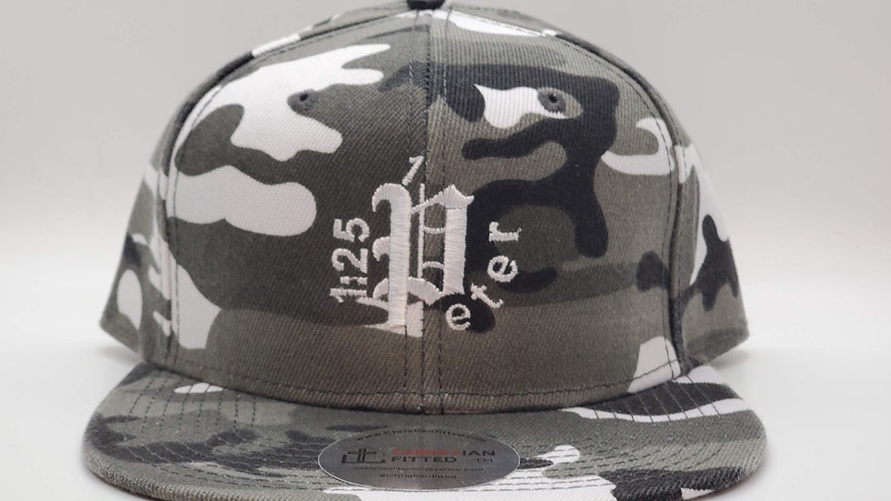 1 Peter 1:25 Snow Camo Snapback by Christian Fitted