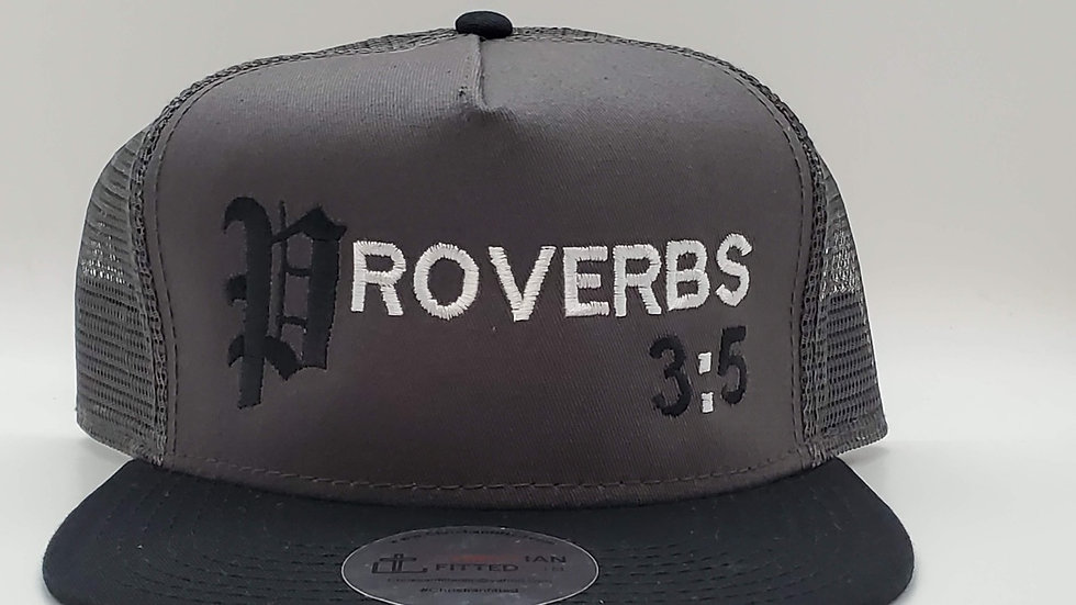 Proverbs 3:5 Mesh Snapback by Christian Fitted