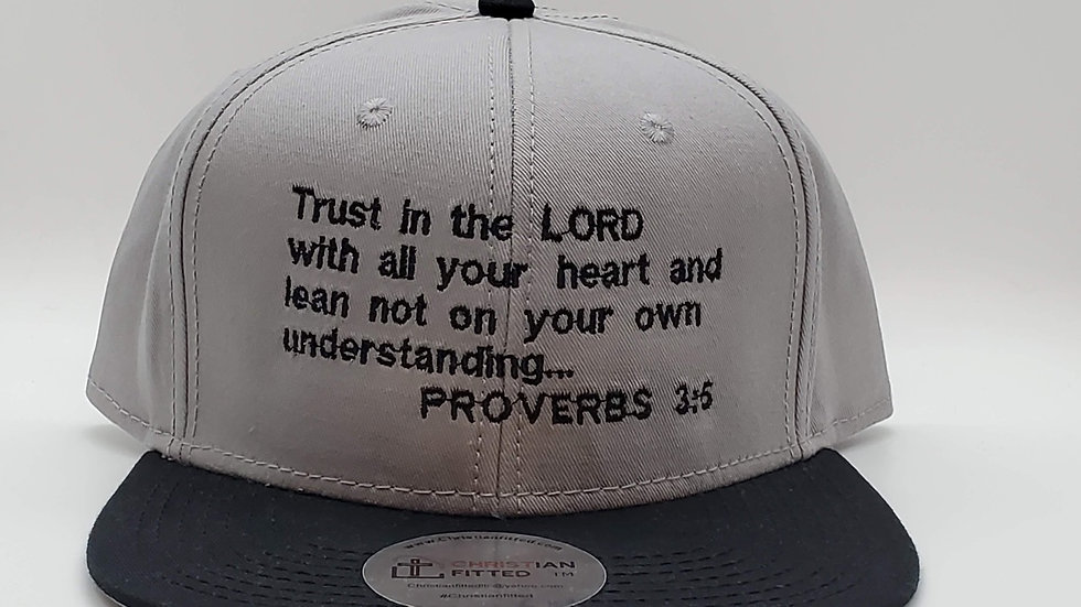 Proverbs 3:5 Snapback by Christian Fitted