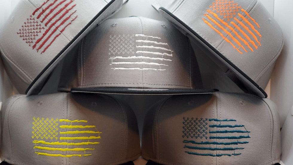 Distressed Flag Snapback