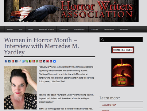 Women in Horror Month - HWA Interviews