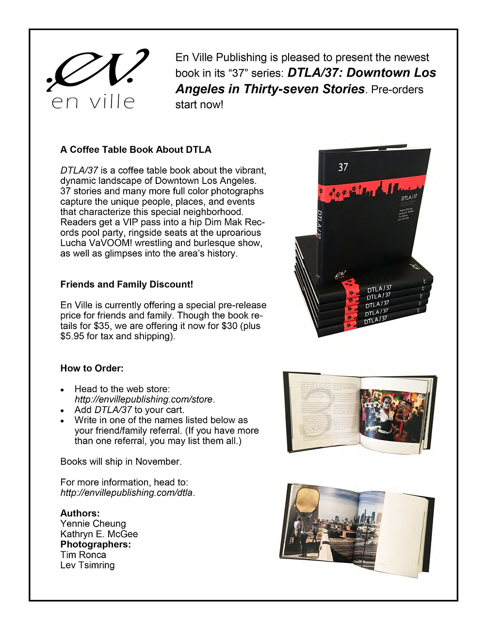 You can now pre-order copies of DTLA/37! Head to http://www.envillepublishing.com/store. Books ship in November.