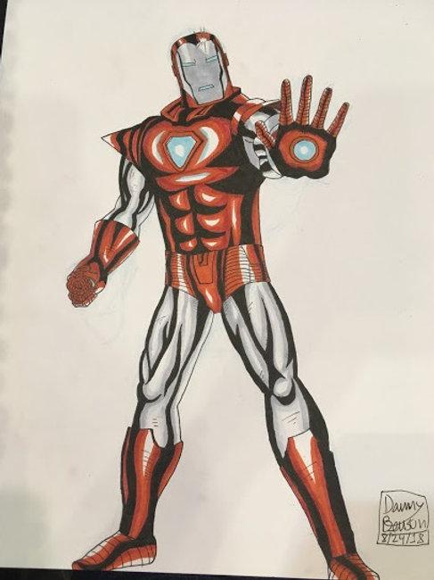 IRON MAN SILVER CENTURION Full Body Drawing