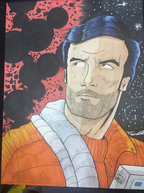 POE DAMERON Head Sketch