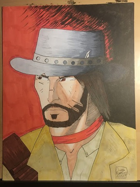 JOHN MARSTON Head Portrait