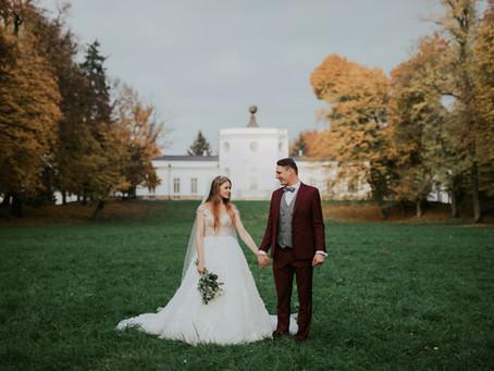 Daria & Filip, sesja poślubna w parku pałacowym w Jabłonnie