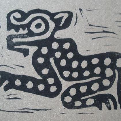 Printmaking Meso-America Hieroglyph