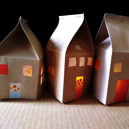 Light up paper houses