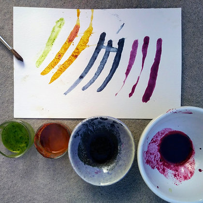 Spice and fruit paint