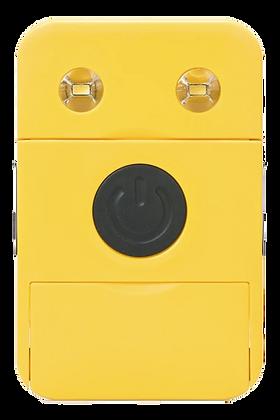 Carregador e lanterna solar amarelo