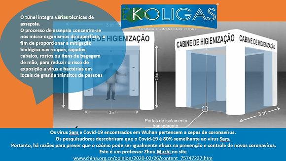 Cabine de desinfecção à ozônio - SARS