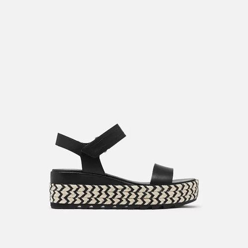 Cameron Flatform Wedge Sandal Black