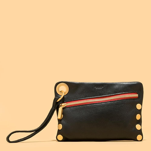 Nash Small Black Brushed-Gold/Red-Zip