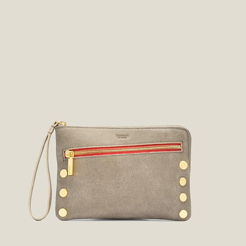 Nash Small 2 Pewter Brushed-Gold/Red-Zip