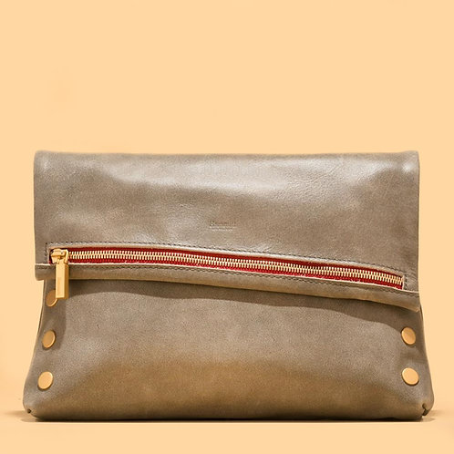 VIP Large Pewter-Brushed Gold-Red Zip