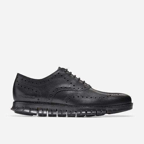 Zero Grand Wingtip Oxford Black