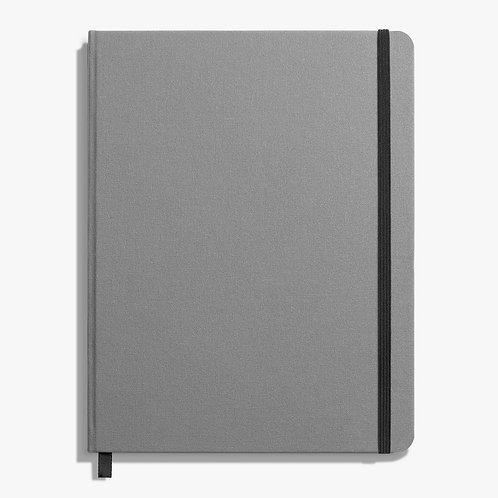 Large Hard Ruled Journal Light Gray