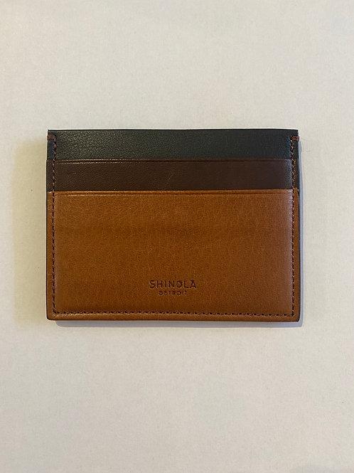 RFID Five Pocket Card Case Whiskey-Mahogany-Black