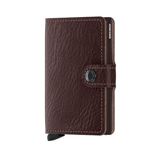 Miniwallet Vegetable Tanned Espresso-Brown