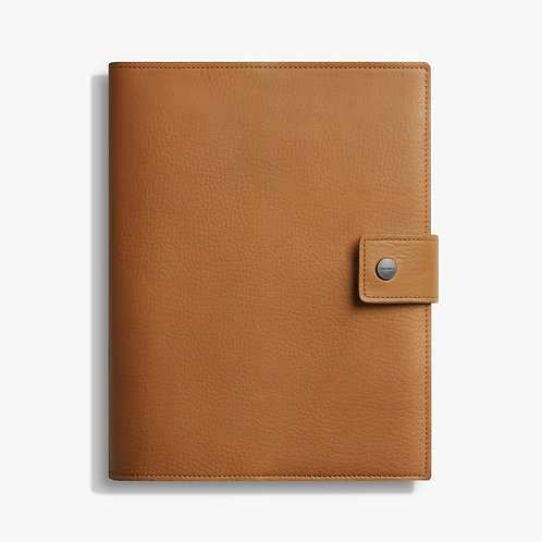 Large Journal Cover With Tab Signature Cognac