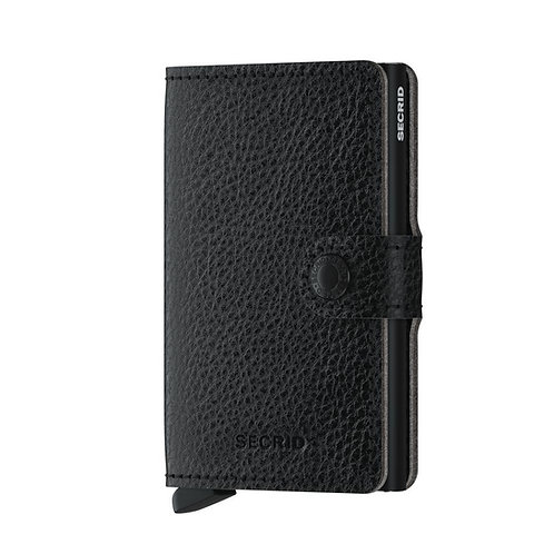 Miniwallet Vegetable Tanned Black-Black