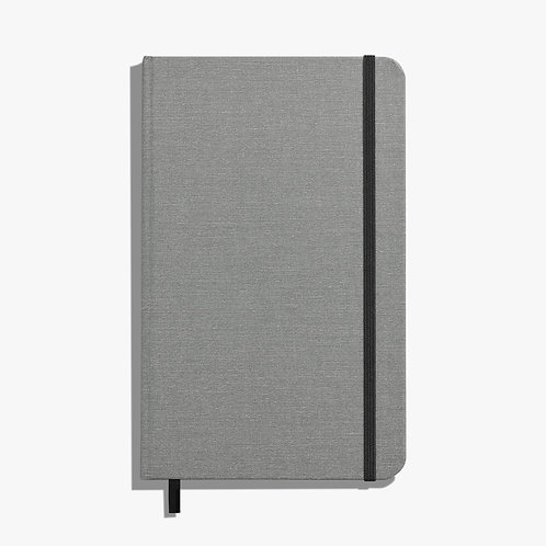 Medium Hard Ruled Journal Light Gray
