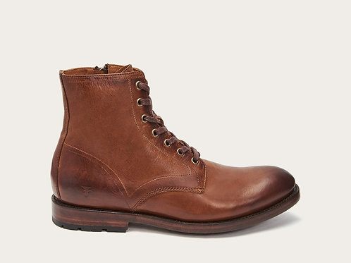 Bowery Lace-Up Cognac
