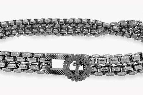 Gear Briolette Bracelet In Black Rhodium