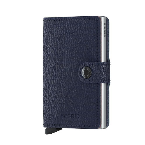 Miniwallet Vegetable Tanned Navy-Silver
