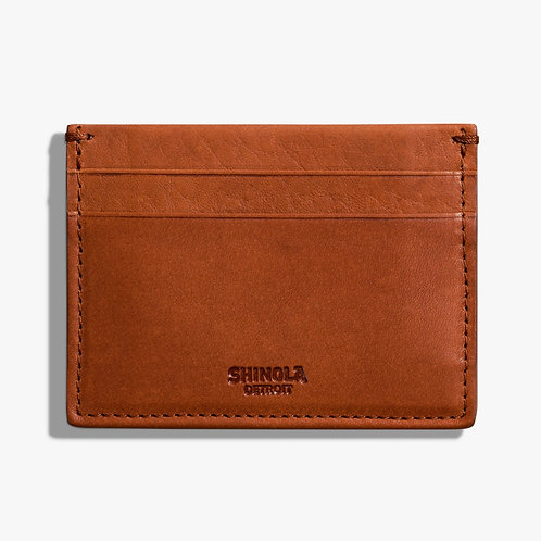 RFID Five Pocket Card Case Signature Bourbon
